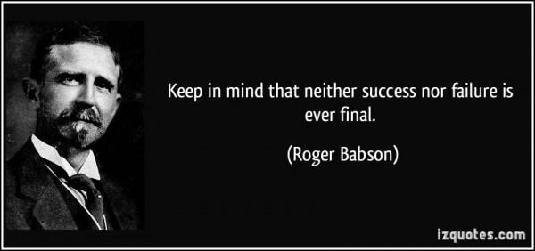 keep in mind success failure