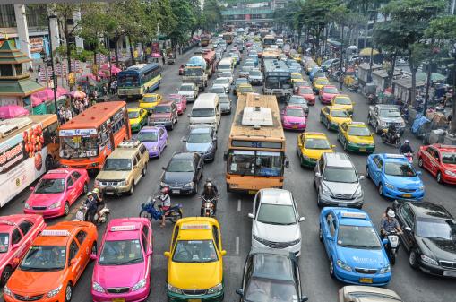 traffic jam bright