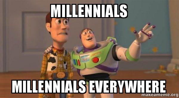 Millennials. Millennials Everywhere.