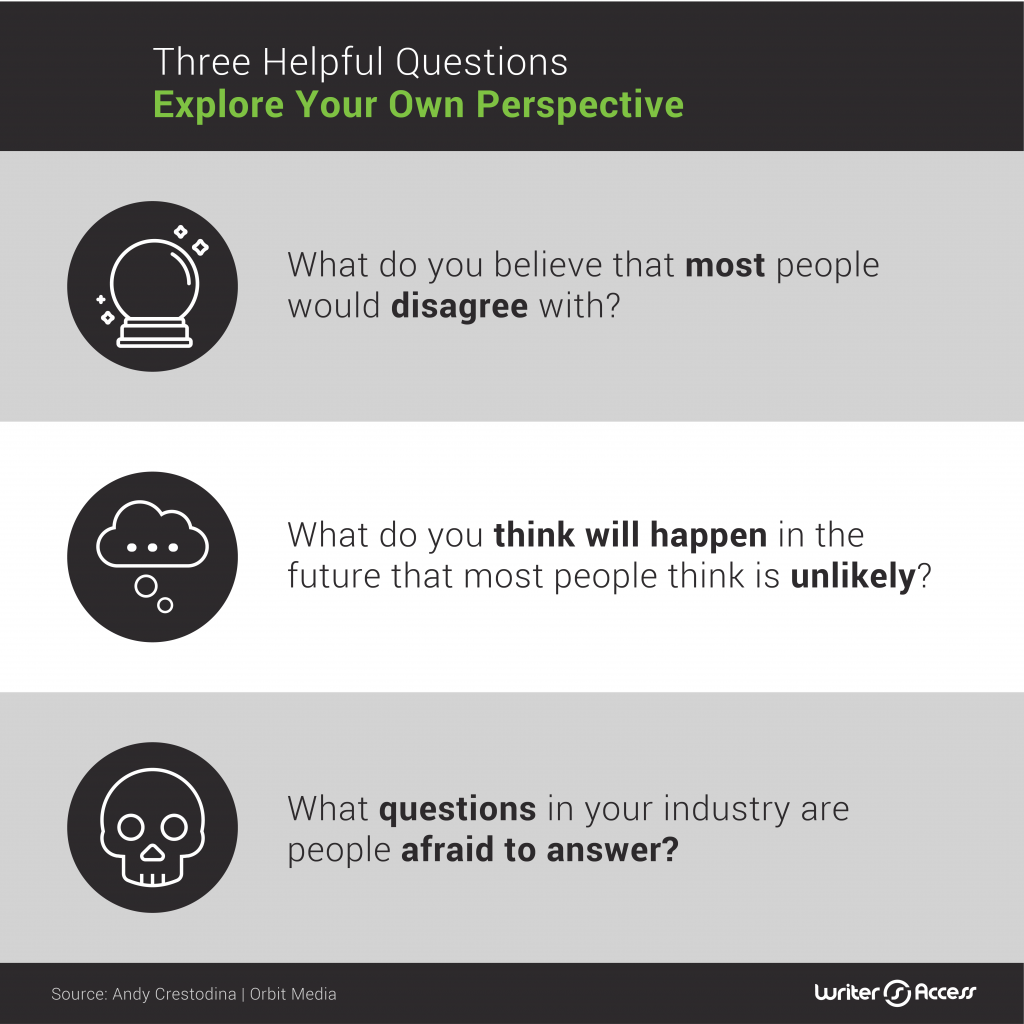 Three helpful questions in content creation in marketing