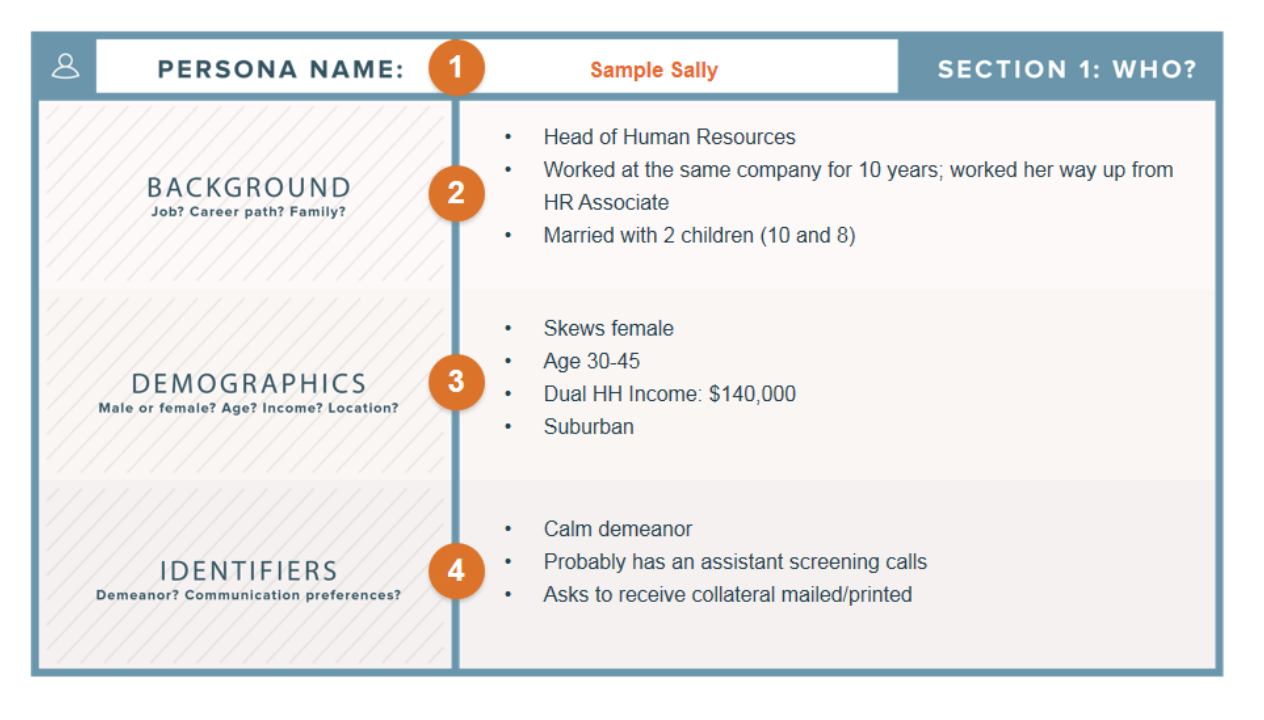 HubSpot Customer Persona Template
