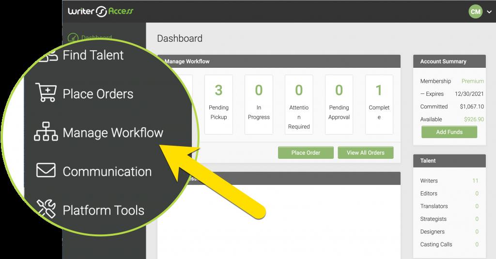 manage-workflow-writeraccess-platform