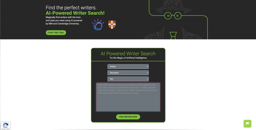 Ho you can use Writeraccess AI to find the perfect writers in seconds